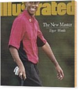 Tiger Woods, 1997 Masters Sports Illustrated Cover Wood Print