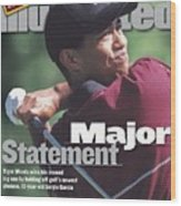 Tiger Woods, 1999 Pga Championship Sports Illustrated Cover Wood Print