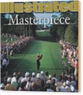 Tiger Woods, 2001 Masters Sports Illustrated Cover Wood Print