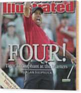 Tiger Woods, 2005 Masters Sports Illustrated Cover Wood Print