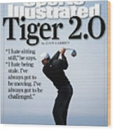 Tiger Woods, 2007 Buick Invitational Practice Round Sports Illustrated Cover Wood Print
