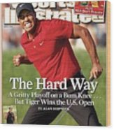 Tiger Woods, 2008 Us Open Sports Illustrated Cover Wood Print