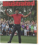 Tiger Woods, 2019 Masters Tournament Champion Sports Illustrated Cover Wood Print