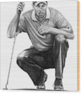 Tiger Woods Crouching Tiger Wood Print