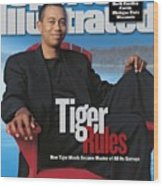 Tiger Woods, Golf Sports Illustrated Cover Wood Print