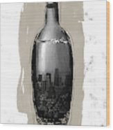 Time In A Bottle 2- Art By Linda Woods Wood Print