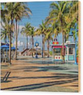 Times Square In Fort Myers Beach Florida Wood Print