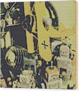 Tin Sign Toys Wood Print