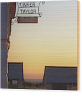 Tinker Taylor Sign Wood Print