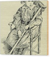 Tiny Tim From A Christmas Carol By Charles Dickens Wood Print