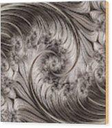 Titanium Double Fractal Spiral Wood Print