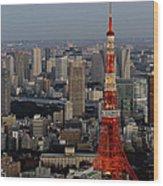Tokyo Tower At Dusk Wood Print