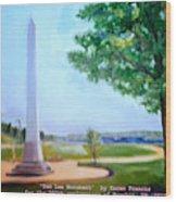 Tom Lee Monument Anniversary Print Wood Print