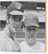Tom Seaver And Jim Palmer At Baseball Wood Print