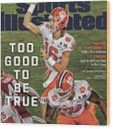 Too Good To Be True Trevor Lawrence Killed It As A Sports Illustrated Cover Wood Print