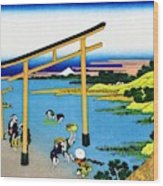 Top Quality Art - Mt,fuji36view-nobotonoura Wood Print