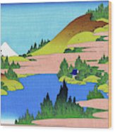 Top Quality Art - Mt,fuji36view-soshu Hakone Kosui Wood Print