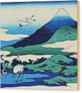 Top Quality Art - Mt,fuji36view-soshu Umezawanosho Wood Print