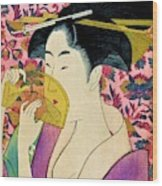 Top Quality Art - Woman With A Comb Wood Print