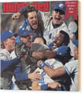 Toronto Blue Jays Joe Carter, 1992 World Series Sports Illustrated Cover Wood Print