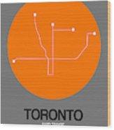 Toronto Orange Subway Map Wood Print