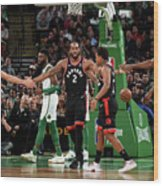 Toronto Raptors V Boston Celtics Wood Print