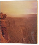 Toroweap Overlook Storm Sunrise Wood Print