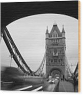 Tower Bridge In London In United Wood Print