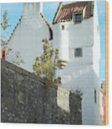 towerhouse and turret at Culross Wood Print