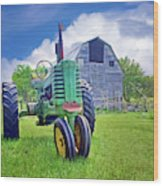 Tractor - On The Farm Wood Print