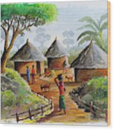 Traditional Village Wood Print