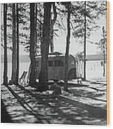 Trailer Park In Yellowstone National Wood Print