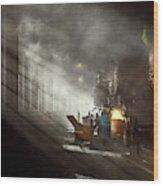 Train - Repair - Smoking Section 1942 Wood Print