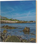 Tranquil Blues Day Kennebunkport Wood Print