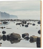 Tranquil Sea Water Surface Landscape Wood Print