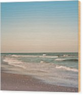 Tranquil Waves Wood Print