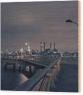 Transmitter Park Pier, Brooklyn Wood Print