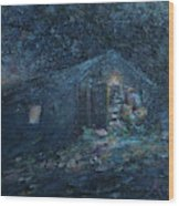 Trapp Family Lodge Cabin Sunrise Stowe Vermont Wood Print