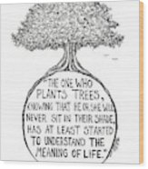 Meaning Of Life Wood Print