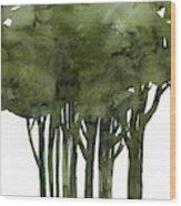 Tree Impressions 1b Wood Print