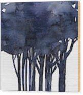 Tree Impressions 1f Wood Print