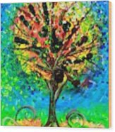 Tree Of Faith Wood Print