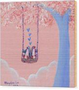 Tree Swing 3 Wood Print