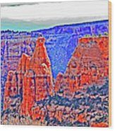 Trees Plateau Valley Color 2871ado National Monument  Wood Print