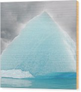 Triangular Iceberg On Gloomy Day, Bear Wood Print