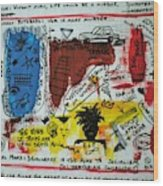 Tribute To Basquiat, Philosophy, And Activism Wood Print