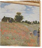 Tribute To Claude Monet Wood Print