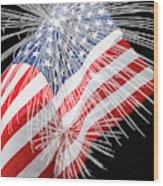 Tribute To The Usa Wood Print