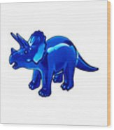 Triceratops Cartoon Wood Print