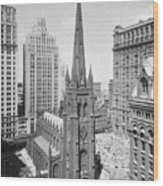 Trinity Church On Wall Street Wood Print